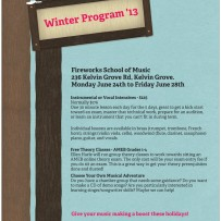 Winter Program '13